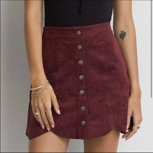 American Eagle Scalloped Mini Skirt